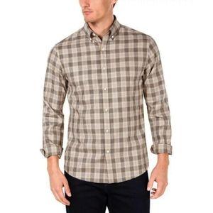 NWT Michael kors plaid dark chino longsleeve shirt